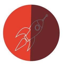 rocket technology science creativity design icon vector image vector image