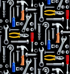 Seamless repair tools pattern vector image vector image