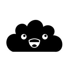 Beautiful fantasy cloud kawaii character vector