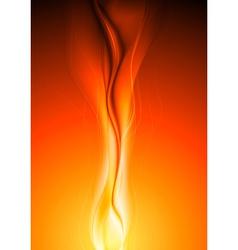 Bright orange waves vector image vector image