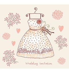 Floral Wedding invitation vector image vector image