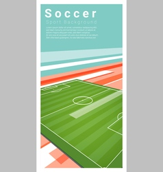 Football field graphic background 6 vector image