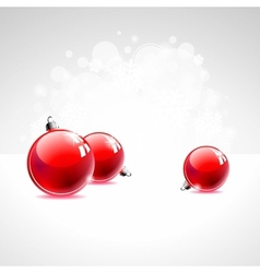 holiday with red christmas balls vector image vector image