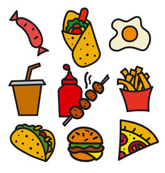 streed food icon vector image vector image