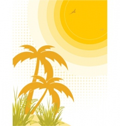 tropical heat vector image vector image
