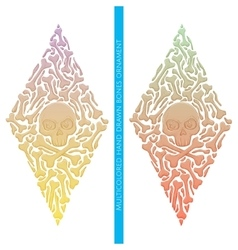 Abstract Ornament of Bones Multicolored vector image