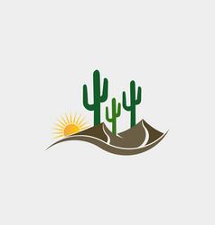 cactus desert western logo vector image