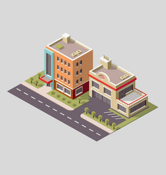 isometric icon or infographic element vector image