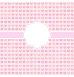 Pink cute card with hearts vector image