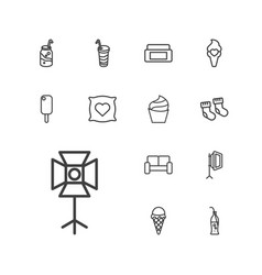 13 soft icons vector