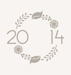 2014 Wreath vector image