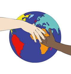 A world against racism vector image