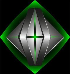 Abstract 3d logo template5 vector