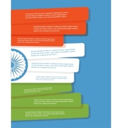 abstract flag of India Infographic brochure vector image