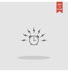 Alarm clock sign wake up icon vector