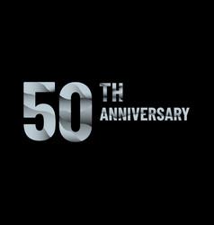 Anniversary 50th paper cut vector