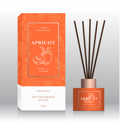 Apricots home fragrance sticks abstract vector