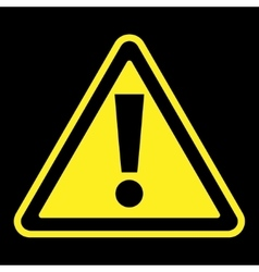 Attention sign on black background vector