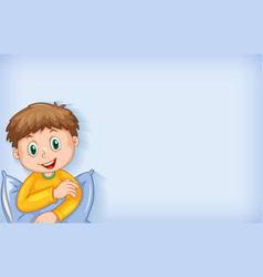 Background template design with happy boy vector