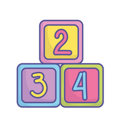 bashower toys numbers cubes icon vector image