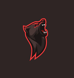 Bear illlustration logo for gaming squad vector