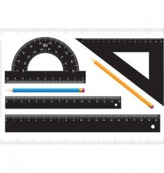 black ruler vector image
