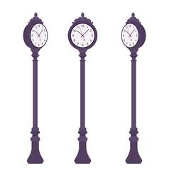 Black street clock set vector