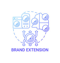 Brand extension concept icon vector