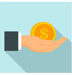 bribery money coin icon flat style vector image