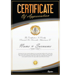 Certificate of achievement or diploma template 9 vector