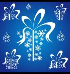 Christmas present box vector image