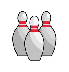 color bowling funny play icon vector image