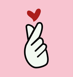 cute sign mini heart symbol vector image