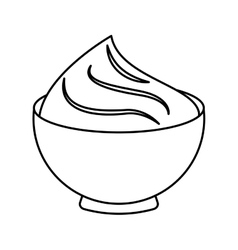Delicious sweet pudding icon vector