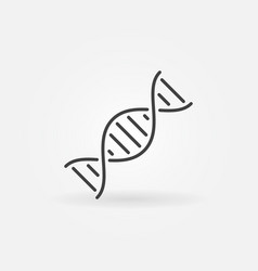 Dna helix concept icon in thin line style vector