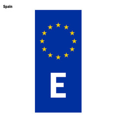 eu country identifier blue band on license plates vector image