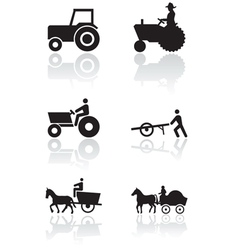 farmer symbol set vector image