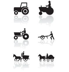 farmer symbol set vector image vector image