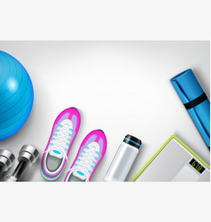 Fitness background realistic composition vector