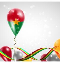 Flag of Burkina Faso on balloon vector image