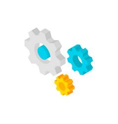 gear wheels isometric object vector image