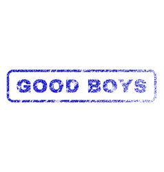 Good boys rubber stamp vector