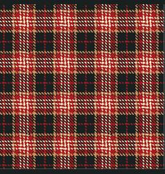 grunge tartan plaid fabric vector image