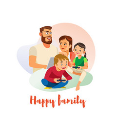 Happy family spending time together concept vector
