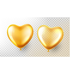 heart balloon transparent 3d realistic vector image