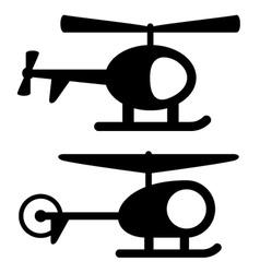Helicopter black symbols vector