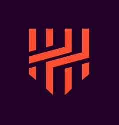 hh initial logo vector image
