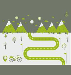 Infographics landscape background vector