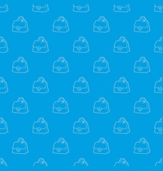 lady handbag pattern seamless blue vector image