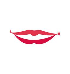 lips woman mouth makeup lipstick vector image